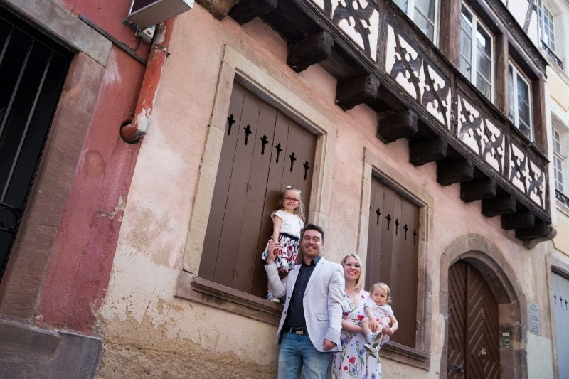 Séance famille à Strasbourg Petite France